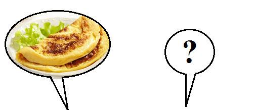 Omelete sendo sugerido a um protovegetariano