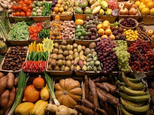 Muitos alimentos vegetais