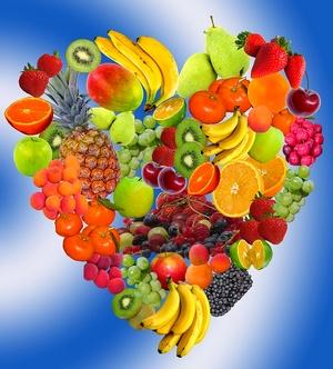 Coração cheio de vitalidade vegetal