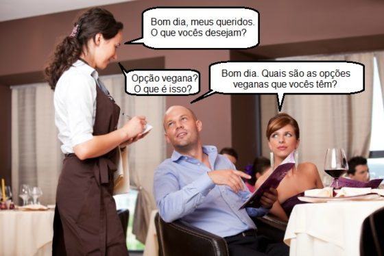 Conversa com atendente sobre opções veganas