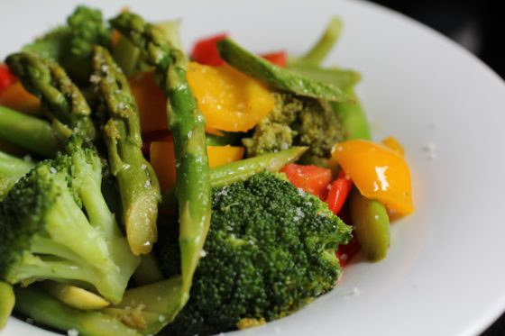 Prato com vegetais