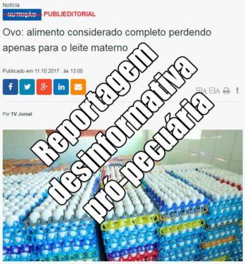 manipulação ovos TV Jornal