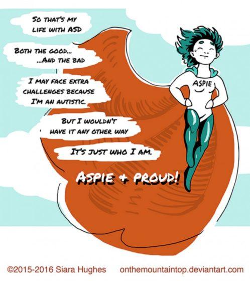Aspie com orgulho, Siara Hughes