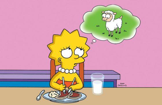 Lisa reluta em comer carne