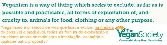 Definição de veganismo, possível e praticável