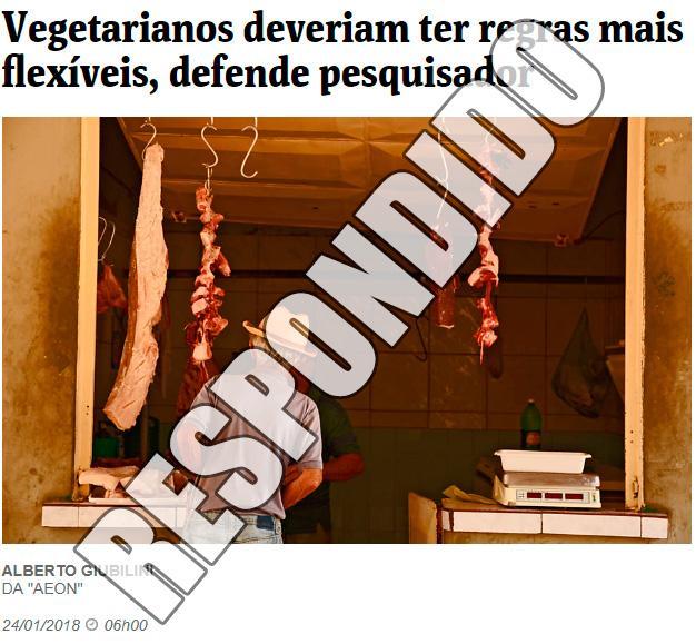 Artigo de Alberto Giubilini respondido