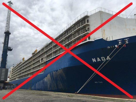 """Fora, navio """"Nada""""!"""