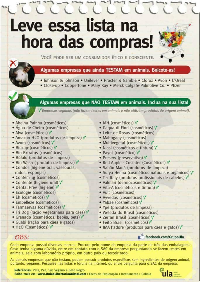 ULA contra testes em animais