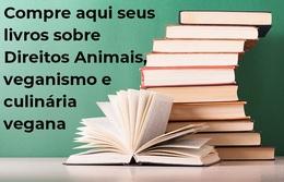 Compre aqui seus livros sobre veganismo, Direitos Animais e culinária vegana