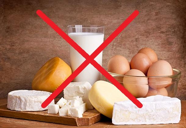 Laticínios e ovos: diga não!