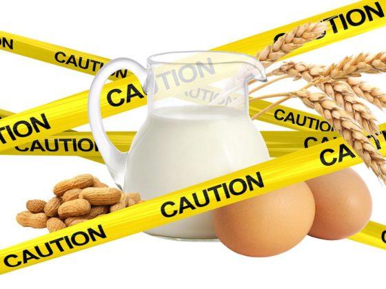 Intolerância alimentar, leite, ovos, amendoim, trigo, glúten