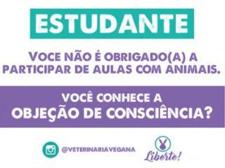 Objeção de consciência e Direitos Animais
