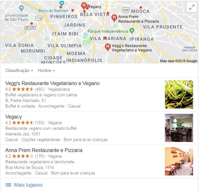 Restaurantes veganos em São Paulo