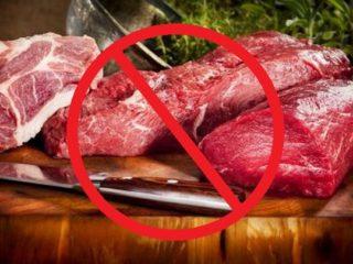 Diga não à carne vermelha