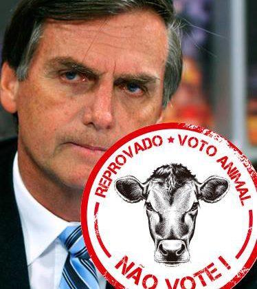 Votar em Bolsonaro é votar contra o veganismo e a causa animal