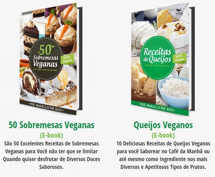 E-books bônus ao 200 Receitas Veganas