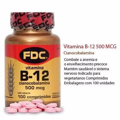 suplementos de vitamina B12 da FDC